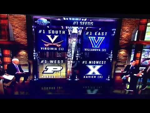 NCAA Tournament Selection Show - Top 16 Seeds as of February 11, 2018