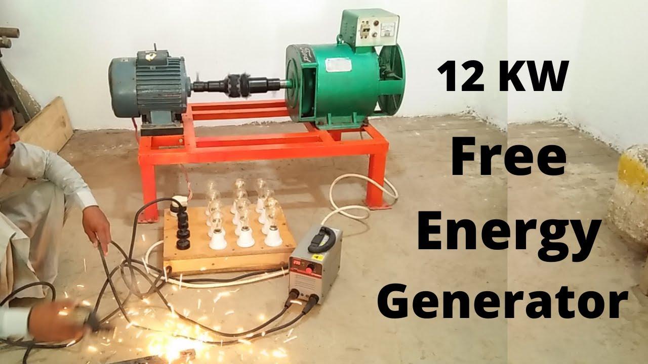 12 KW Free Energy Generator With 3 HP Electric Motor 24 7 Free Electricity Making Machine 12000 Watt