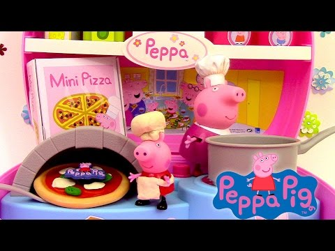 Thumbnail: Peppa Pig Mini Pizzeria Jouet Playset Play doh ♥ Pizza shop carry case