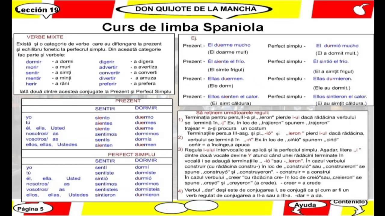 pierzi greutatea în limba spaniolă
