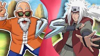 MASTER ROSHI vs JIRAIYA! Featuring: Just A Robot | (Dragon Ball vs Naruto) CARTOON FIGHT CLUB