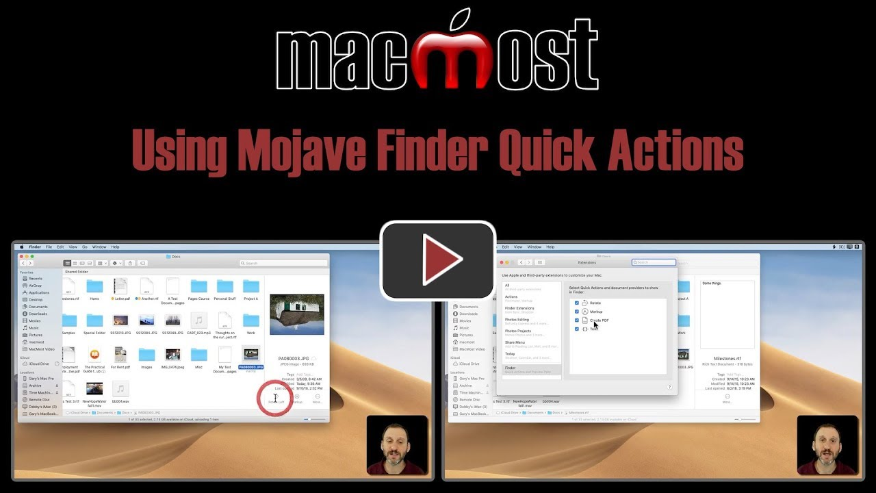 Using Mojave Finder Quick Actions (#1758)