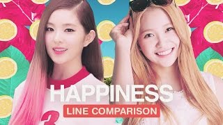 Red Velvet Happiness Line Comparison With Yeri