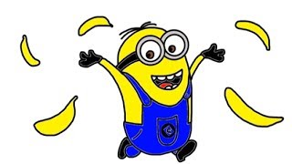 Itsy Artist - How To Draw Minions - Dave From Despicable Me And Despicable Me 2 Throwing Bananas