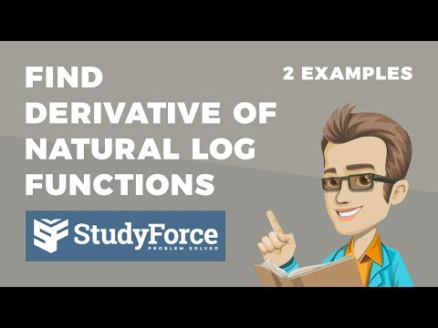 📚 How to find the derivative of natural logarithmic functions