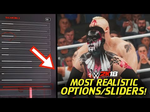 WWE 2K18 Best Sliders For Realism & Best Experience! thumbnail