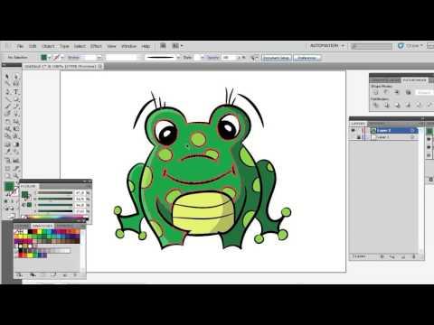 Рисуем лягушку 5