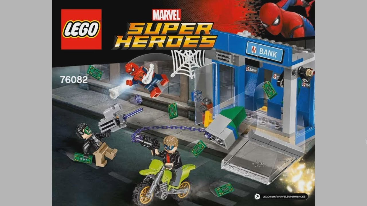 Lego Super Heroes 76082 Atm Heist Battle Instruction Timelapse