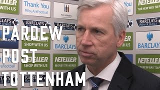 Alan Pardew Post Tottenham Interview