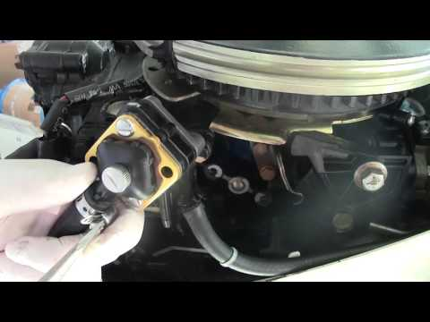 HOW TO Change a Fuel Pump on a Johnson Evinrude 15HP engine,  Simple do it yourself DIY