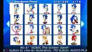 100% complete-Sonic Gems Collection