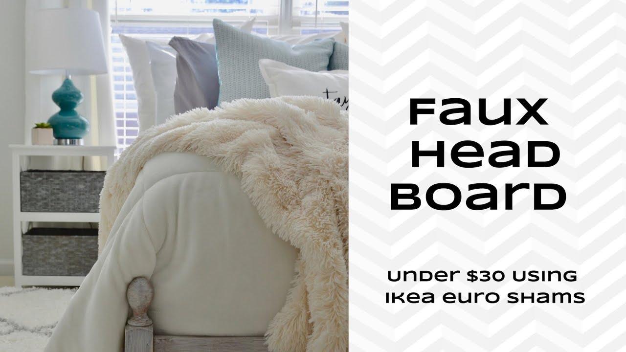 faux headboard pillow tutorial