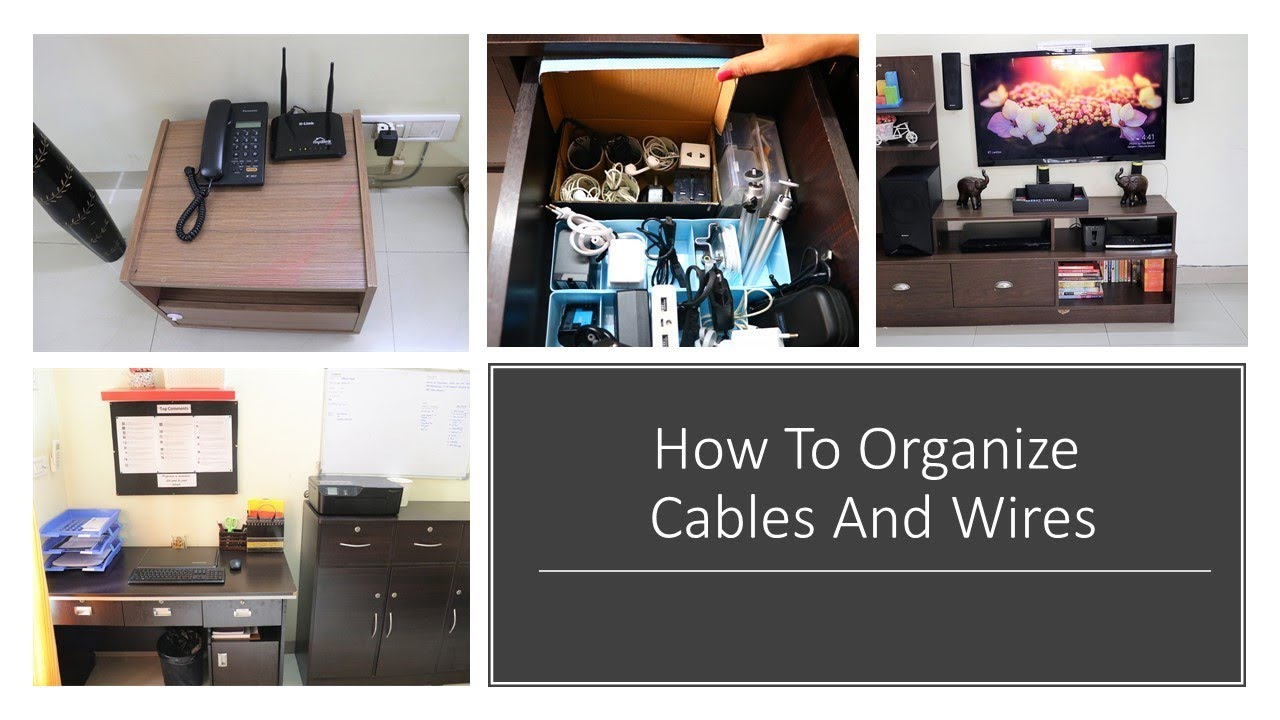 How To Organize Cables And Wires - Cable Management - YouTube