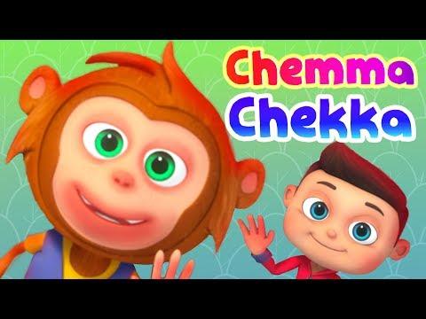 Chemma Chekka Charadesi Mogga   Telugu Rhymes For Children   Minnu & Mintu   Nursery Rhymes