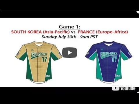2017 Intermediate World Series Game 1 - Asia Pacific vs Europe Africa