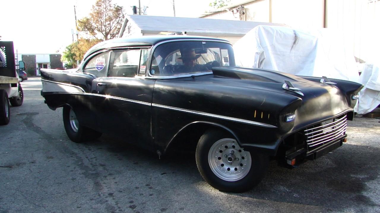 1957 chevy pro street old school gasser drag hot rod 2dr hardtop ...