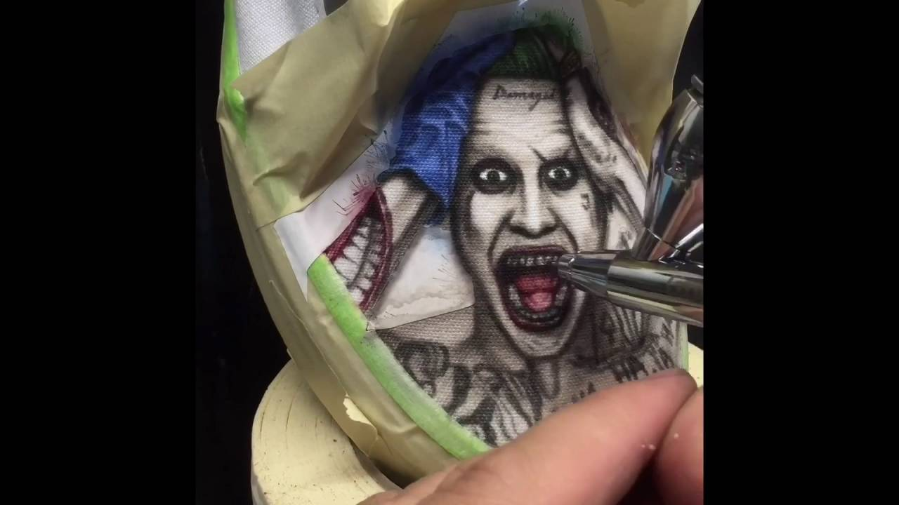 04071f0465e3 JBo Airbrush  Suicide Squad Shoes - YouTube