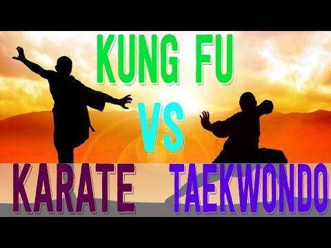 Martial Arts: Kung Fu vs Taekwondo vs Karate