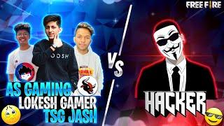 As Gaming ,Lokesh Gamer , Tsg Jash Vs Legendary Hacker Clash Squad Match 1Vs3 Epic Battle Free Fire