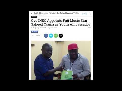 Oyo state INEC appoint Saheed Osupa as youth ambassador