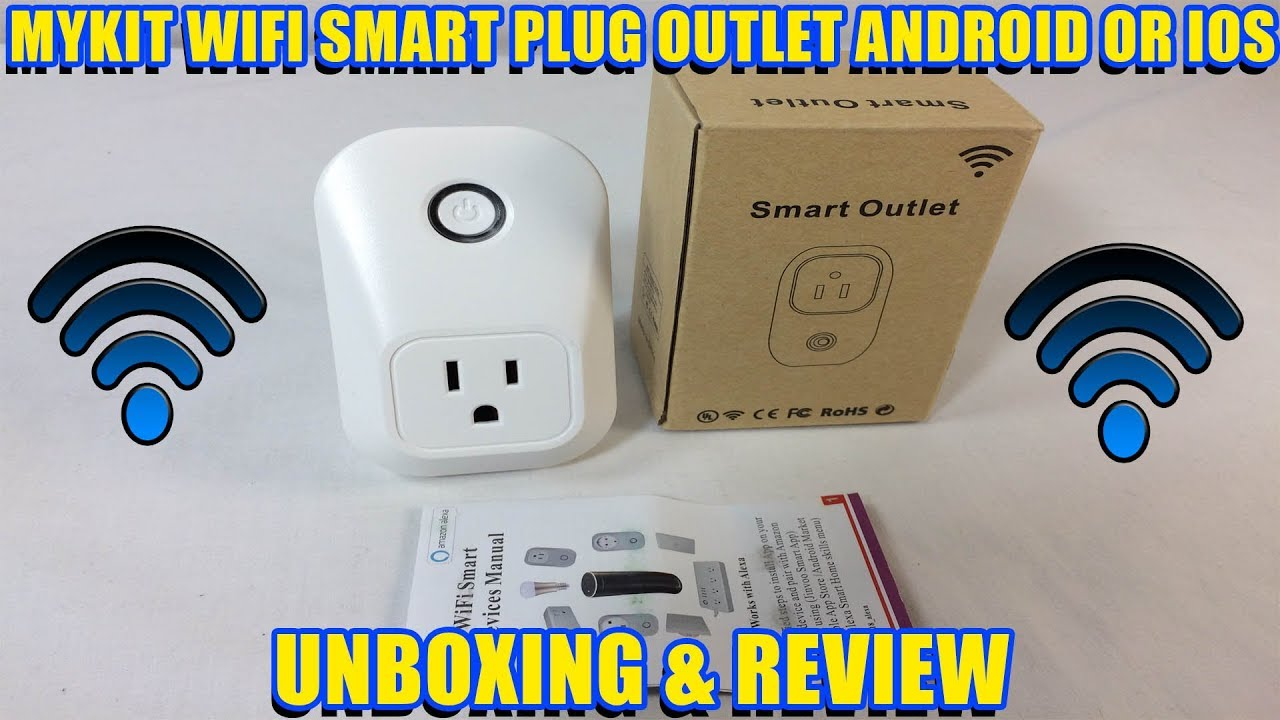 Mykit WiFi controlled smart plug outlet with timers and countdown function  Unboxing & Review