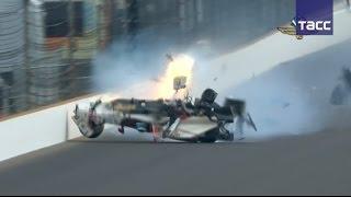 Французский гонщик попал в аварию во время квалификации  Инди 500