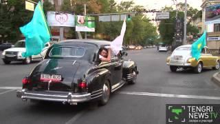"""""""Машины на миллион"""" проехались по улицам Алматы"""