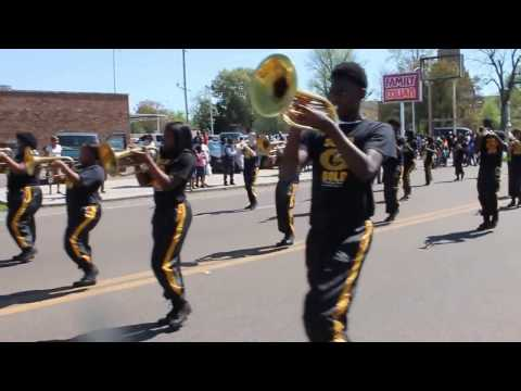 Greenville Public School's GHS Solid Gold Marching Band performs @Parade of Excellence 2017