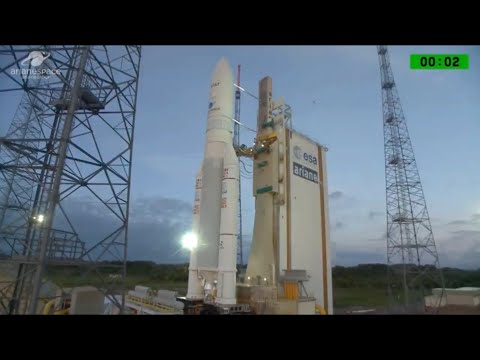 Blastoff! Ariane 5 Rocket Launches AT&T and Eutelsat Satellites