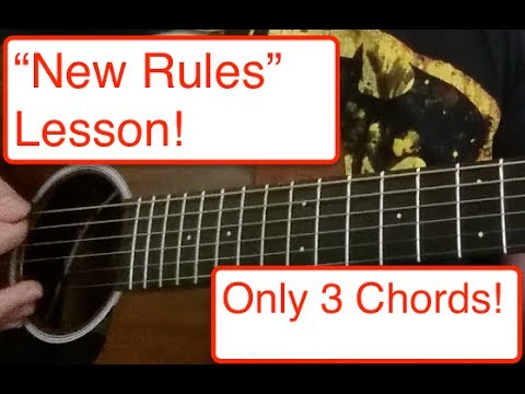 "Dua Lipa ""New Rules"" Easy Guitar Lesson"