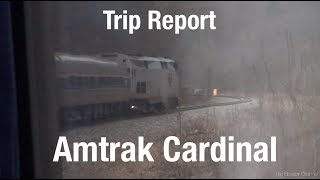 TRIP REPORT - Amtrak Cardinal, Chicago to Washington