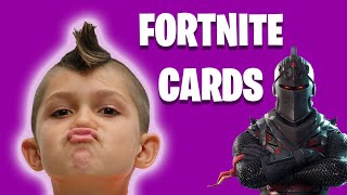 Fortnite Battle Royale TRADING CARDS Unboxing with Niko and Zoe!