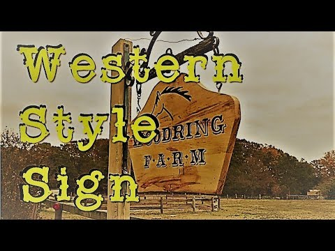 Western style sign - box elder wood with epoxy letters