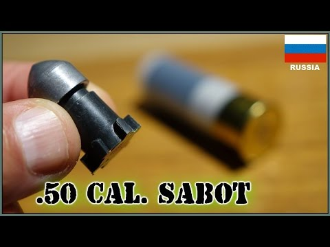 Russian .50 Cal  Sabot Slug -  Like a Tiny Tank Round