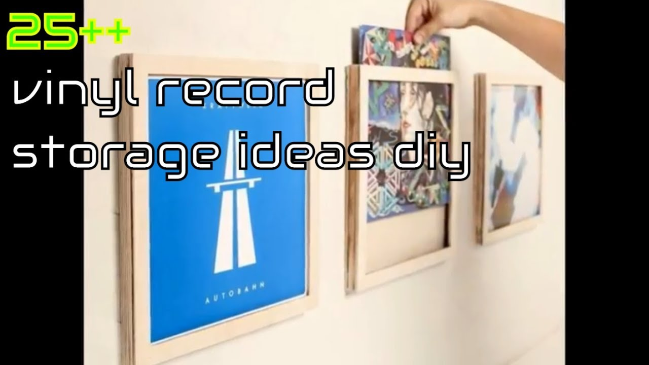 25 vinyl record storage ideas diy youtube. Black Bedroom Furniture Sets. Home Design Ideas