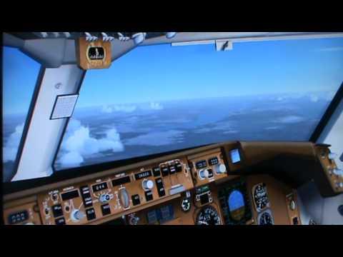 Flightvideo KLM Boeing 767 vertrek Goose Bay, Canada naar Bangkok over de Noordpool