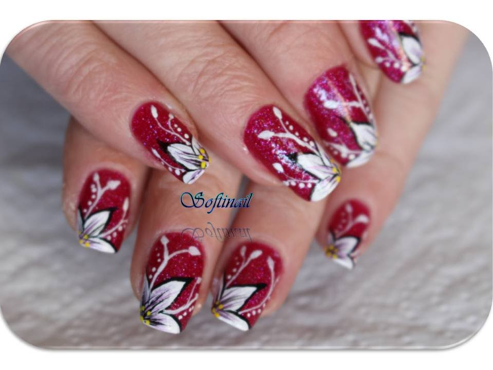 tuto nail art fleur simple d butante youtube. Black Bedroom Furniture Sets. Home Design Ideas