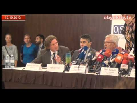 Pro-government reporters turn the OSCE/ODIHR news conference into chaos