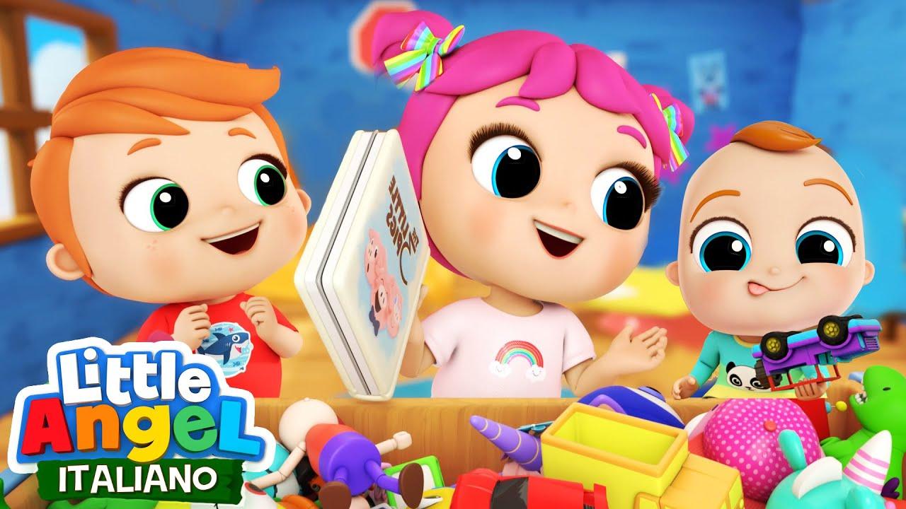 Sistemiamo Insieme i Giocattoli ⚽️🐻 Cartoni Animati & Canzoni Bambini | Little Angel Italiano