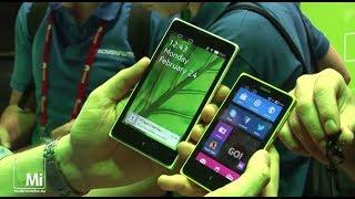 Зеленый робот и Nokia X, X+ и XL на MWC2014