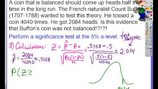 Chapter 9, Lesson #7   Two sided z Test for p