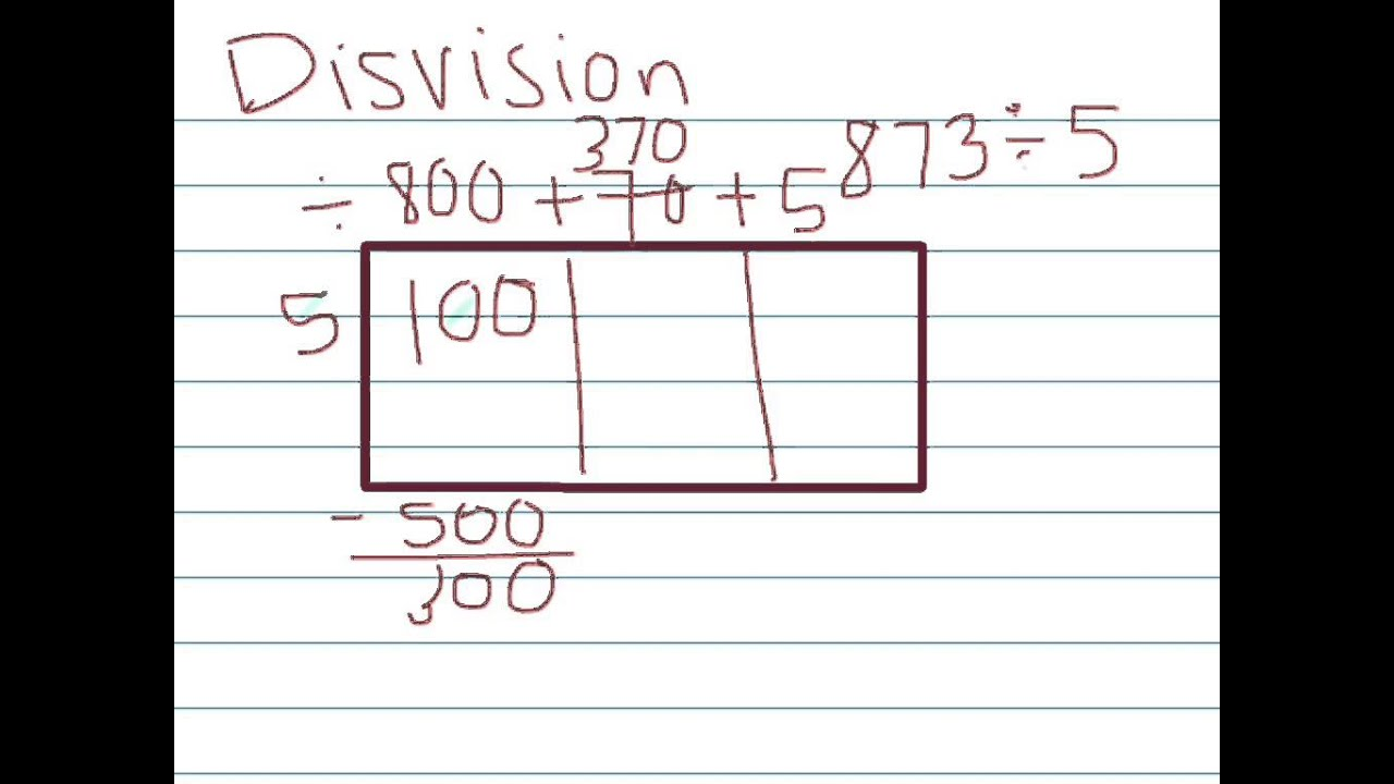 Math Worksheets in and out boxes math worksheets : Long division using the Box Model-5th Grade - YouTube