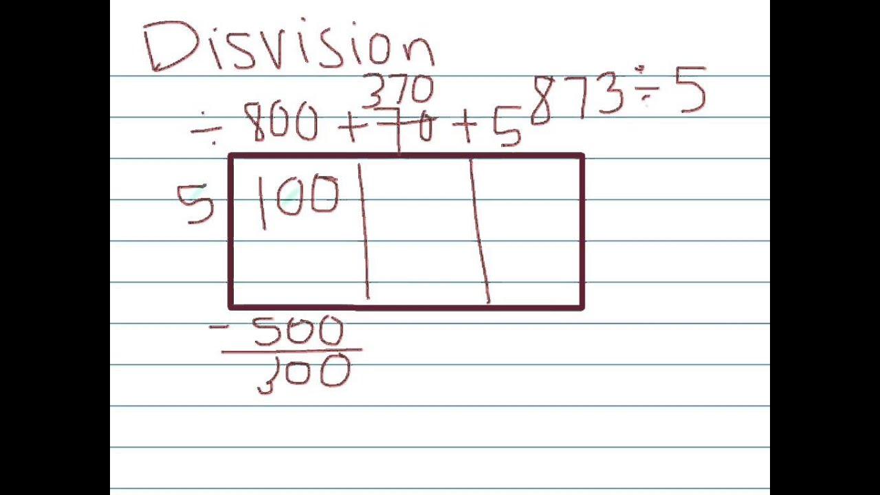 Long Division Using The Box Model 5th Grade