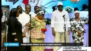 MEIWAY REND HOMMAGE A PAPA WEMBA DEVANT SON EPOUSE AMAZONZE ET  LA 1ERE DAME IVOIRIENNE