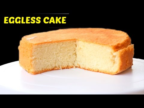 Eggless Vanilla Sponge Cake Recipe Without Condensed Milk