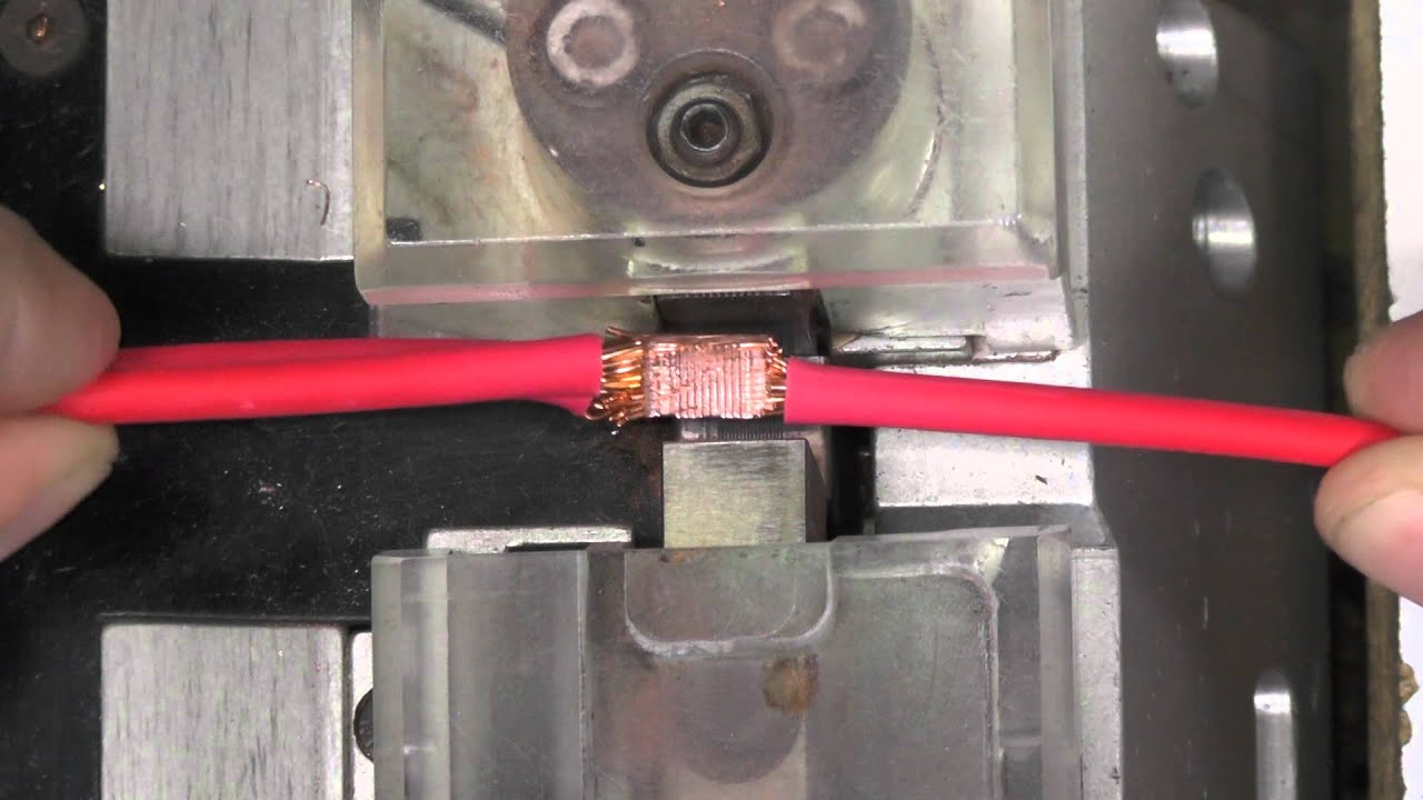 maxresdefault how a wiring harness splice is ultrasonically welded youtube ultrasonic wire harness welding machine at soozxer.org