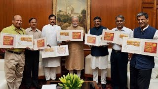 Prime Minister Modi releases postage stamps on 'Surya Namaskar'