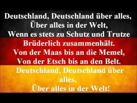 German National Anthem - Deutschland Uber Alles (With Lyrics)