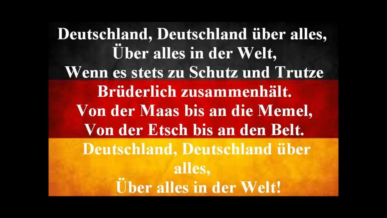 National Anthem Orchestra - Germany Anthem Lyrics ...