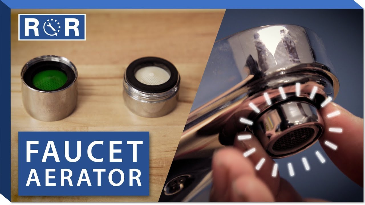 how to replace a faucet aerator repair and replace